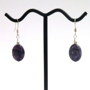 Sterling Silver Purple Charoite Earrings